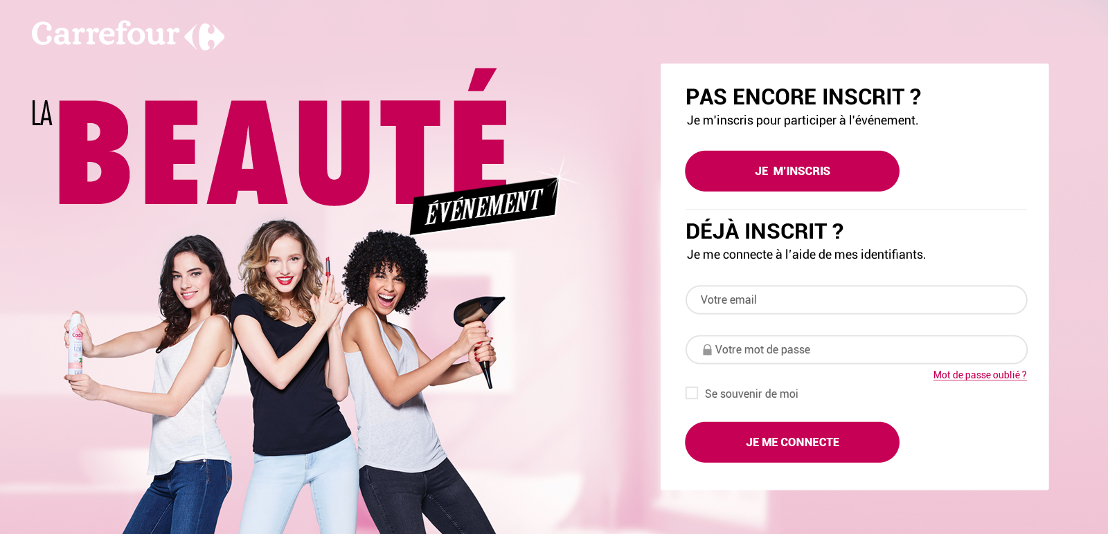 Hyper Carrefour homepage